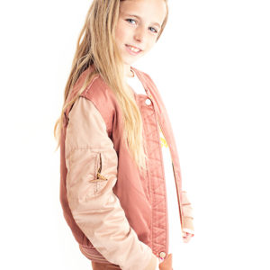 Scotch Rbelle Kids Rose Gold Quilted Bomber