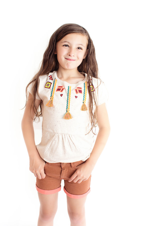Scotch Rbelle Kids Cream Inka Tee