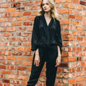Rabens Black Poppy Jumpsuit
