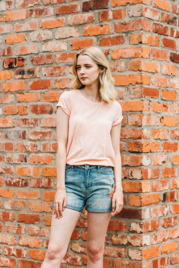 Maison Scotch Pink Superfine Stripe Tee