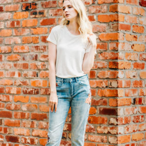 Maison Scotch Flowers Slim Tapered Boyfriend Jeans