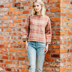 Bellerose Blush Tartan Teddy Sweater