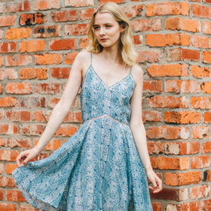 Maison Scotch Blue Paisley Print Dress