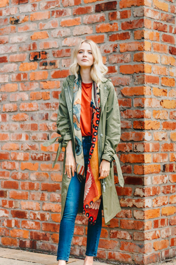 Maison Scotch Long Khaki Trench Coat