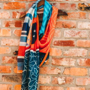 Silk Route Lobster Print Scarf