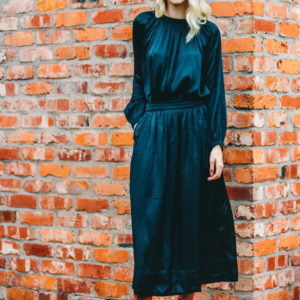 Rabens Faded Black Hilda Solid Skirt