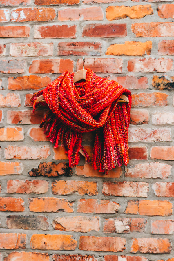 Silk Route Inez Red Chunky Scarf