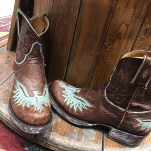 Eagle Inlay Zipper boots