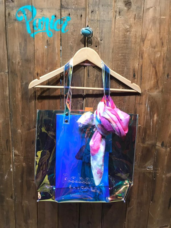 Rabens Iridescent Vinyl Beach Bag