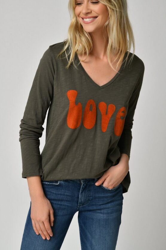 Five Jeans Love Tee in Ivy Green